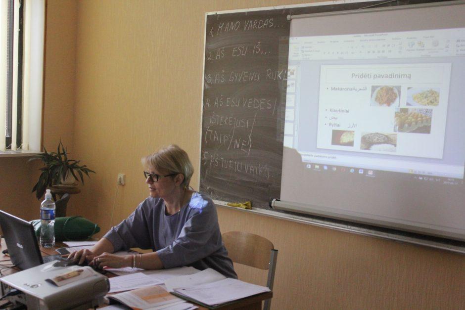 Lietuvių kalba pabėgėliai prabyla jau po pirmųjų pamokų