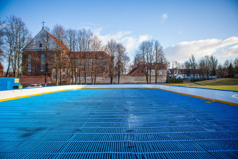 Dovana kauniečiams – nemokama čiuožykla po atviru dangumi