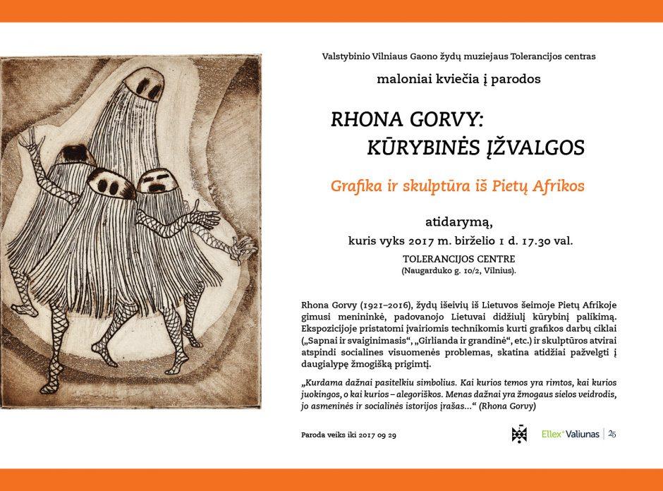 Vilniuje pristatoma litvakės iš tolimosios Pietų Afrikos kūryba