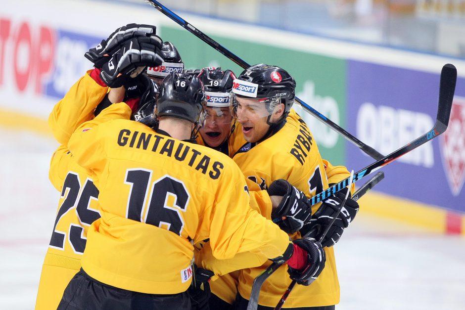 Lietuvos ledo ritulininkai pasaulio čempionatą pradėjo pergale