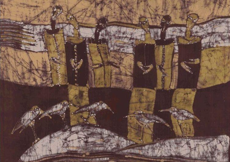 Dailininkės A.Adomavičienės batikos parodoje – sutiktieji pakeliui