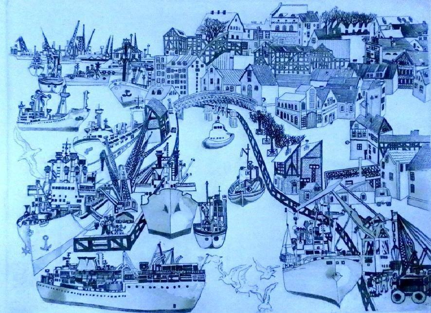 Juodkrantėje eksponuojamoje vilnietės grafikės parodoje – jūra, padavimai, Neringa
