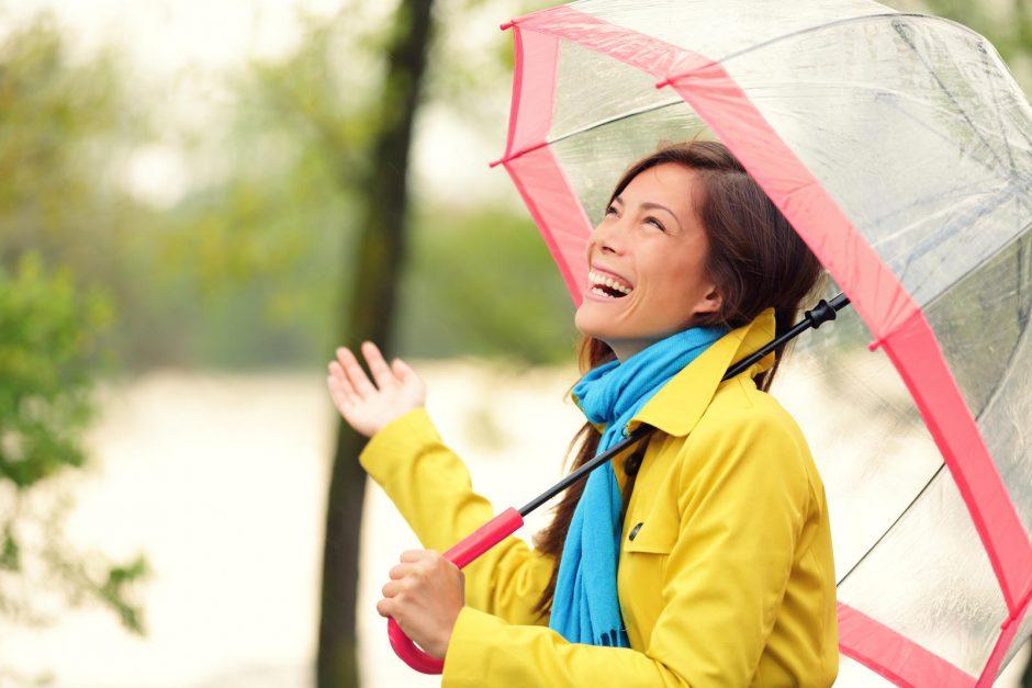 Ar klaipėdiečiams skėtį išsirinkti sunkiau?