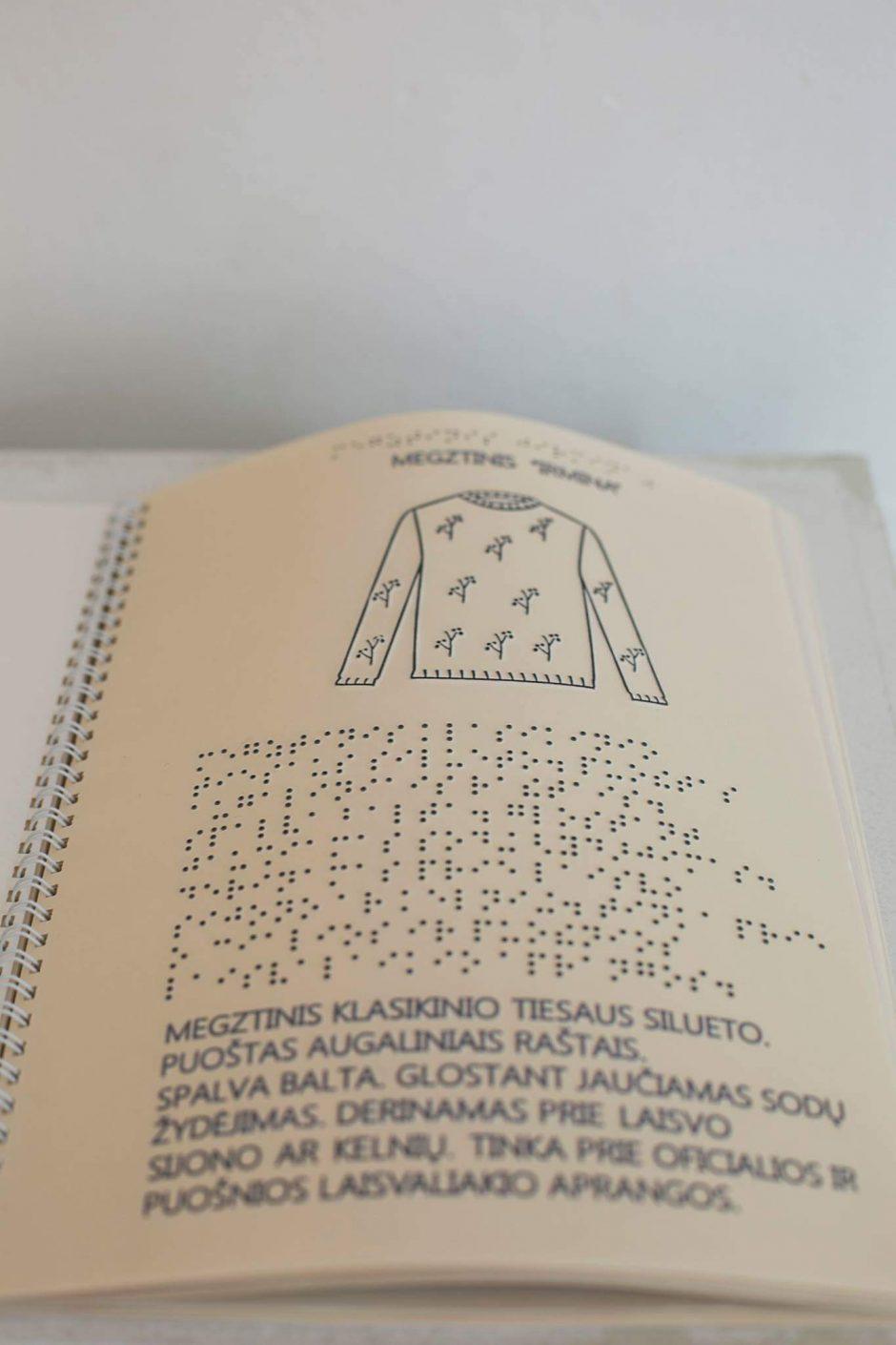 Unikalų mados katalogą neregiams įkvėpė asmeninė patirtis