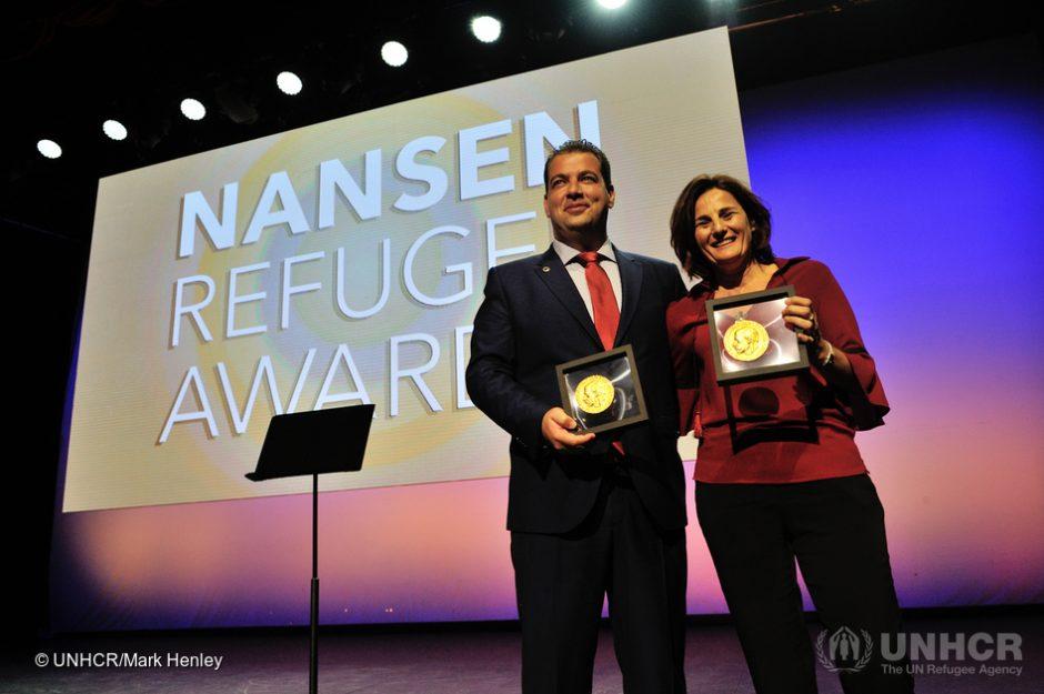 Graikijos savanoriams įteiktas Nanseno pabėgėlių apdovanojimas