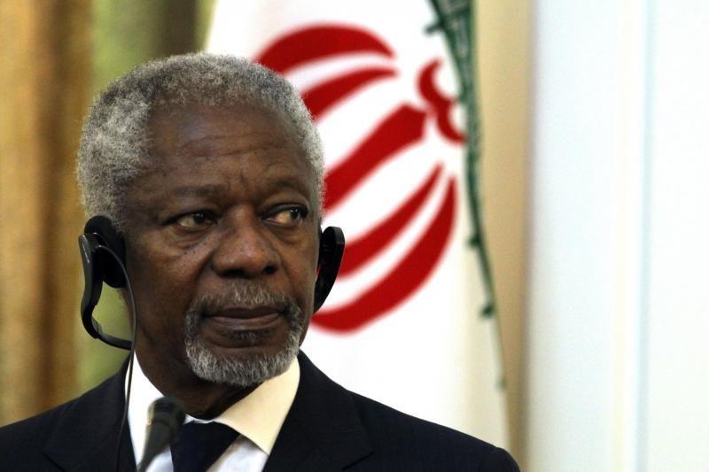 K.Annanas traukiasi iš taikos pasiuntinio Sirijai pareigų