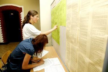 Specialistas: laiku dokumentus pristačiusių mokinių balai skaičiuoti sklandžiai