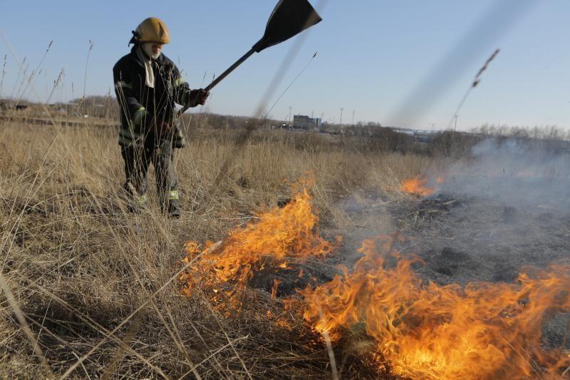 Klaipėdos apskrities ugniagesiai įspėja nedeginti žolės