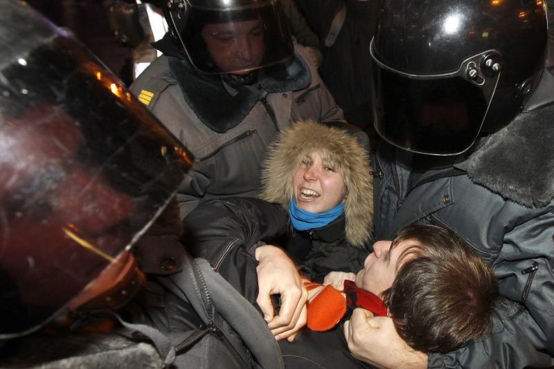 Rusijos protestų lyderių namuose atliktos policijos kratos