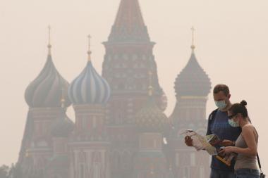 Maskva skęsta dūmuose, liepsnos pavojingai artėja prie miesto