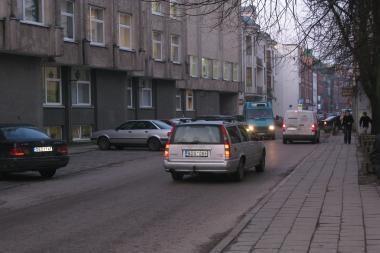 Eismas J.Gruodžio gatve trumpam tapo dvipusis (papildyta)