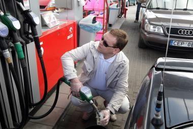 Degalų kainos antradienį - didžiausios šiemet