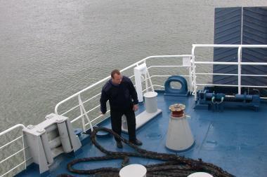 Girtas lietuvis kapitonas Danijos uoste sukėlė avariją