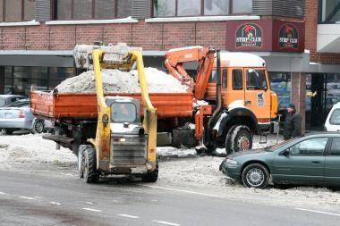 Įmonės pačios kovoja su sniegu