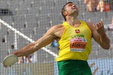 Virgilijus Alekna užėmė antrą vietą