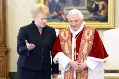 D.Grybauskaitė: Lietuva Vatikane svarbi ir gerai vertinama