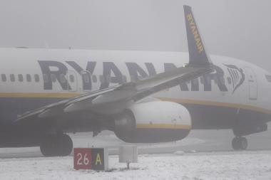 Iš Kauno oro uosto dėl pūgos Jungtinėje Karalystėje atšaukti skrydžiai
