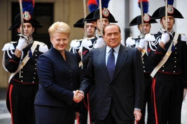 D.Grybauskaitė: S.Berlusconi pažadėjo intensyvinti dialogą dėl