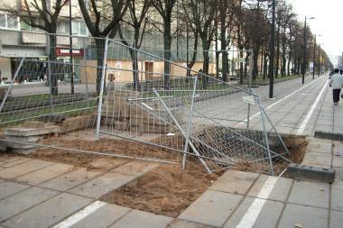 Chuliganams užkliuvo apsauginė tvora