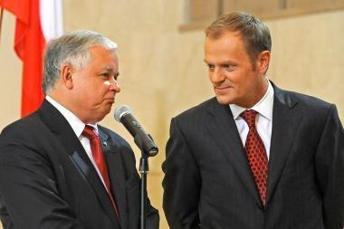 Lenkijos vadovai prajuokino Briuselį