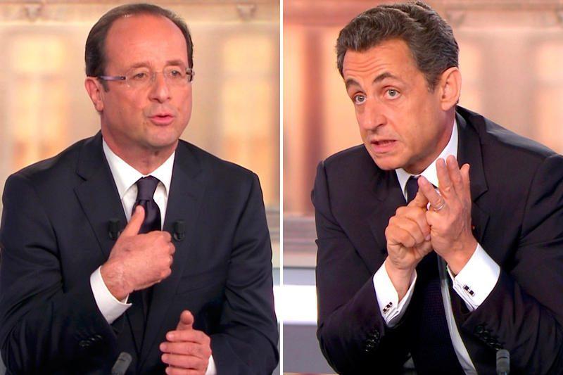 F.Hollande'as ir N.Sarkozy - vienmečiai, bet juos skiria šviesmečiai