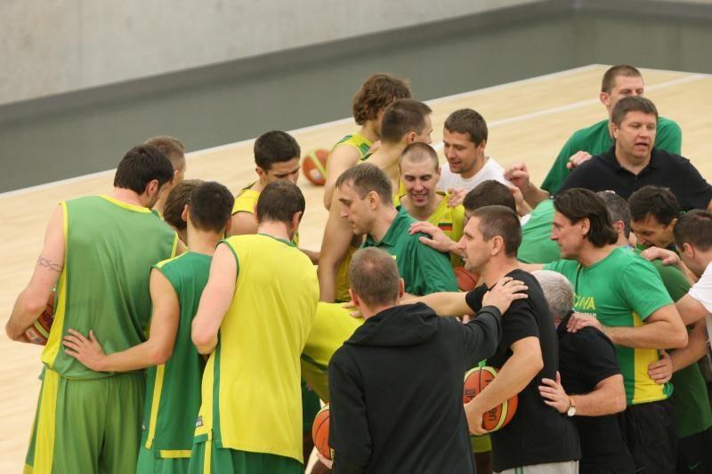 Lietuvos krepšininkai surengė paskutinę treniruotę