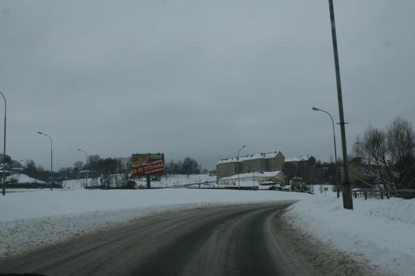 Kelių būklė: vietomis dėl sniego eismo sąlygos sudėtingos