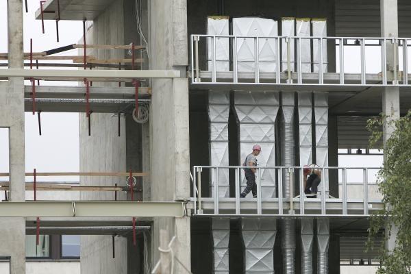 Statybos Lietuvoje per metus pabrango 4,6 proc.