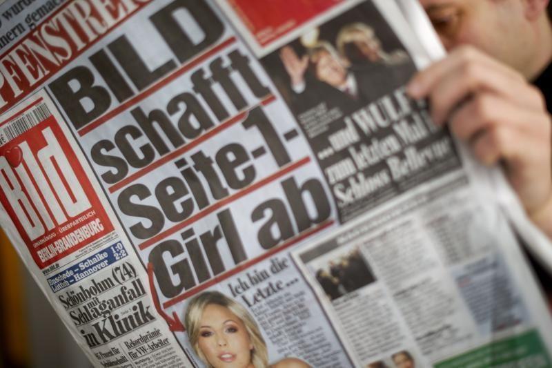 Perkamiausias Vokietijos dienraštis gimtadienio proga ruošia dovaną