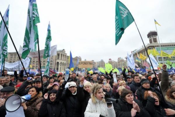 Ukrainos verslininkai protestuoja prieš Mokesčių kodeksą