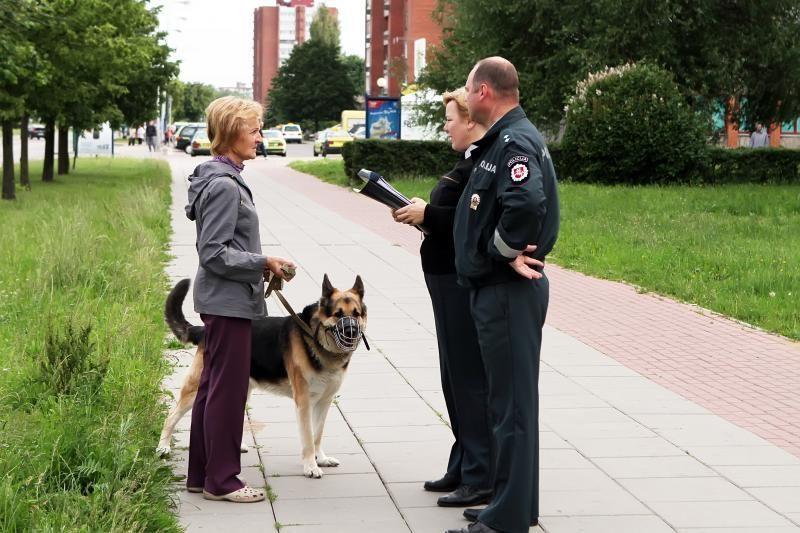 Klaipėdos policininkai pratins šunų šeimininkus prie tvarkos