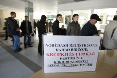 Klaipėdos darbo biržoje - bedarbių apgultis
