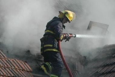 Kaune gaisre sudegė žmogus