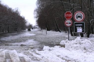 Ant kelio į Rusnę jau 65 cm vandens