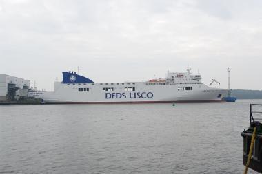 """Nebeliks keltų kompanijos """"DFDS Lisco"""" pavadinimo"""