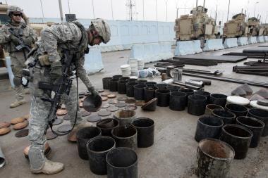 Irake susprogdinta vandentiekio linija