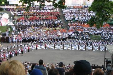 Dainų ir šokių šventę užbaigė fejerverkai