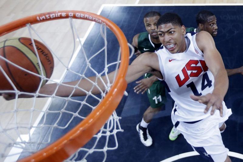Amerikiečiai pasiekė olimpinį rekordą ir sutrypė Nigeriją