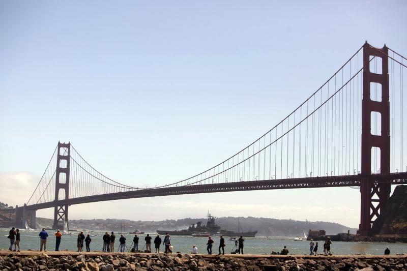 San Fransisko Aukso Vartų tiltui sukanka 75 metai