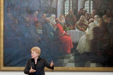 Prezidentė turizmą siūlo skatinti naudojant meną