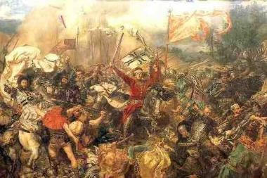 """J.Mateikos paveikslas """"Žalgirio mūšis"""" įgijo išsiuvinėtą antrininką"""