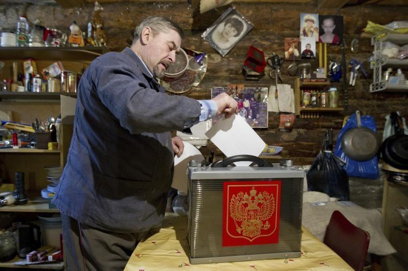 Rusijos prezidento rinkimuose dalyvavo 65,34 proc. rinkėjų