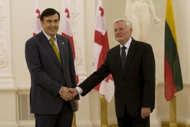 """M.Saakašvilis: """"Lietuva – Europos sąžinė"""" (papildyta)"""