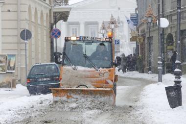 Sniego valymas Vilniui kainuoja tiek, kiek Kaunui ir Klaipėdai kartu sudėjus