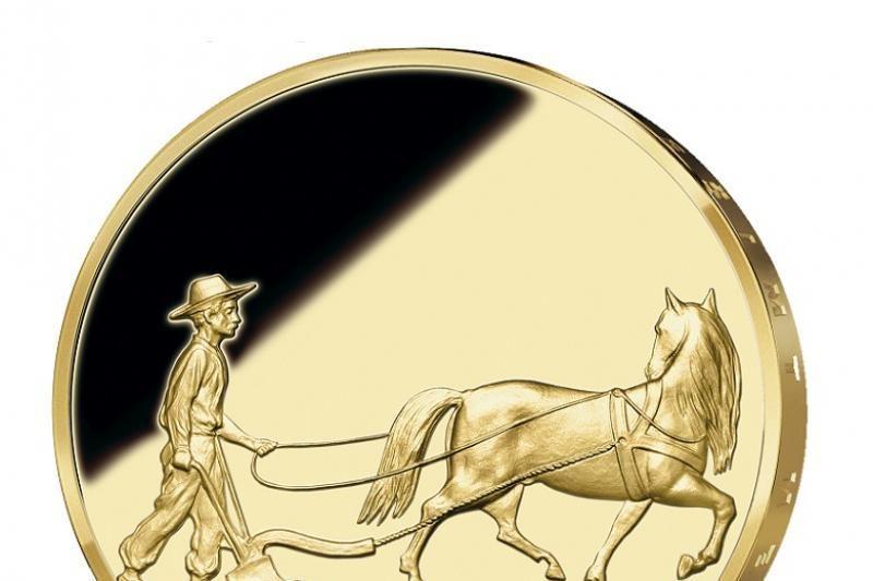 Išleista neemituotos lietuviškos auksinės monetos replika