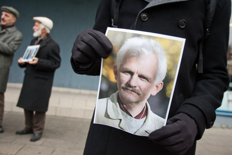 Nuvilnijo mitingas, skirtas išreikšti solidarumui su A.Beliackiu