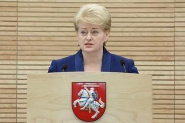 D.Grybauskaitė: 12 pažymų seniai aprašyta informacija