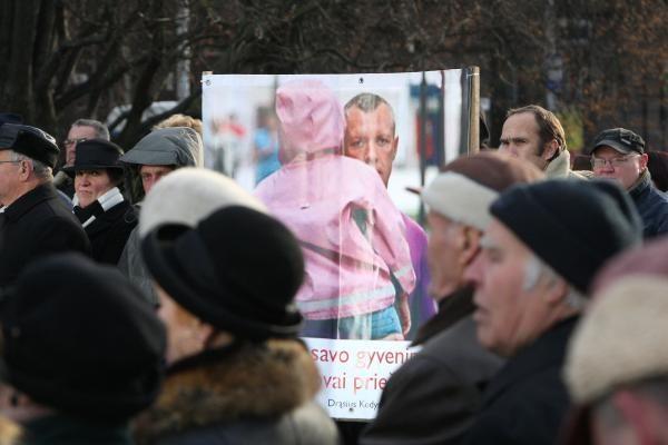 """""""Drąsiaus kelias"""" protestuos po Kauno rajono mero langais"""