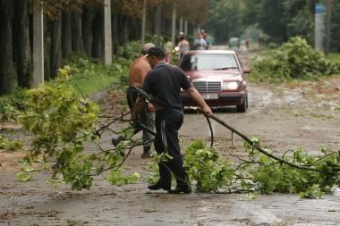 Kaune audros padaryti nuostoliai viršija 1 mln. litų