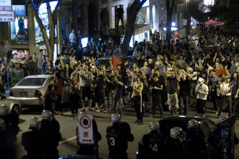 Kanadoje per studentų protestus suimta beveik 700 žmonių